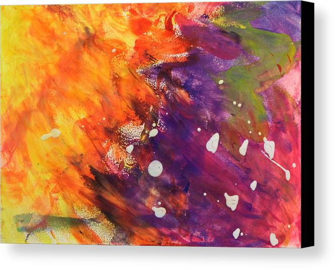 Abstract Canvas Print featuring the painting Temptation by Mary Collins