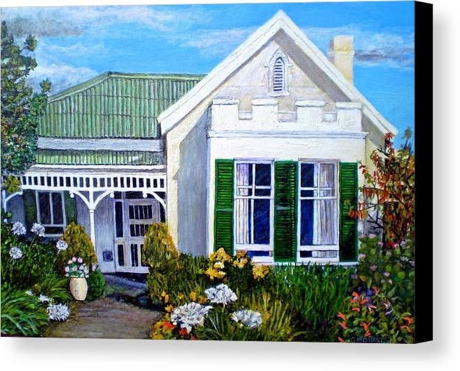 House Canvas Print featuring the painting The Old Farm House by Michael Durst