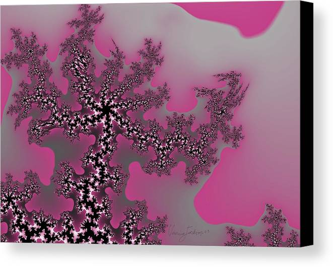 Fractals Tree Nature Oriental Art Canvas Print featuring the digital art The Oriental Tree by Veronica Jackson