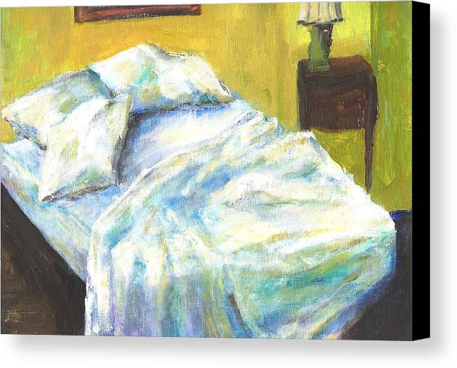 Bed Canvas Print featuring the painting Tribute To Marc by Randy Sprout