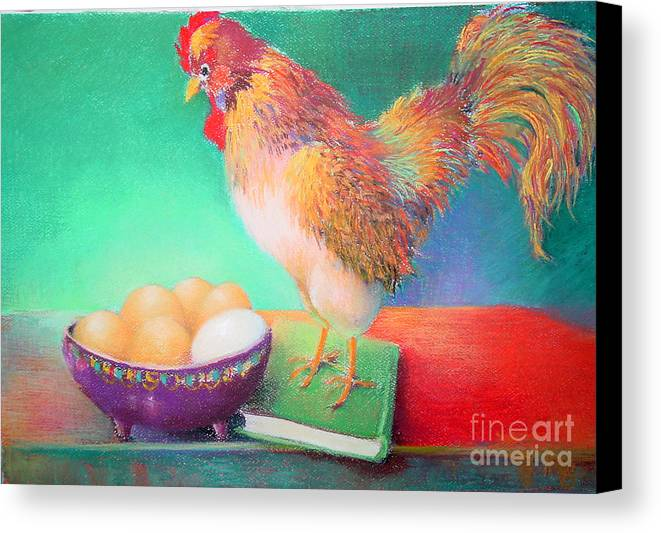 Bird Canvas Print featuring the painting Who Is That   Copyrighted by Kathleen Hoekstra