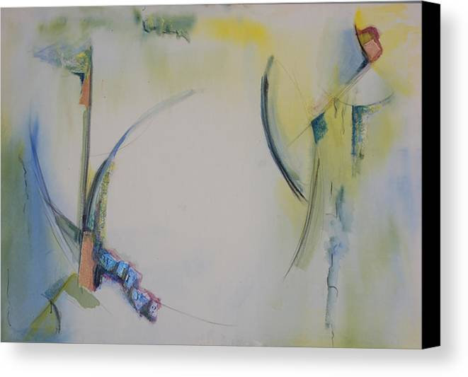 Abstract Canvas Print featuring the painting Why by Kevin Stevens