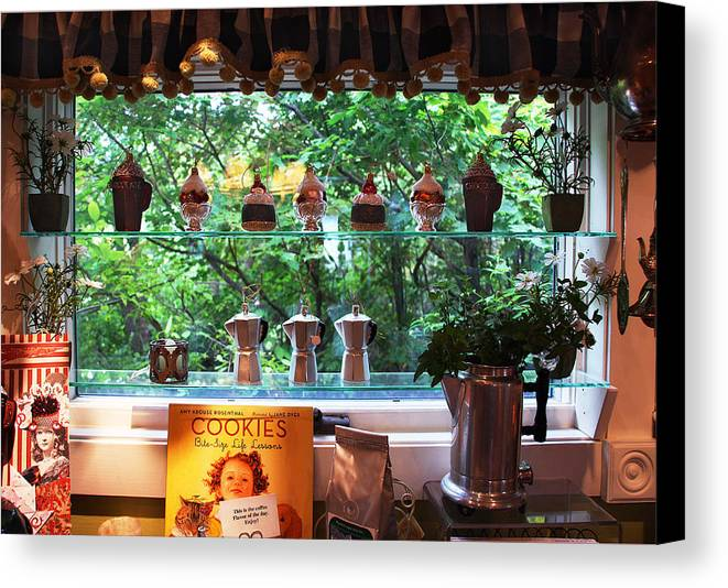 Window Canvas Print featuring the photograph Window Shopping by Joanne Coyle