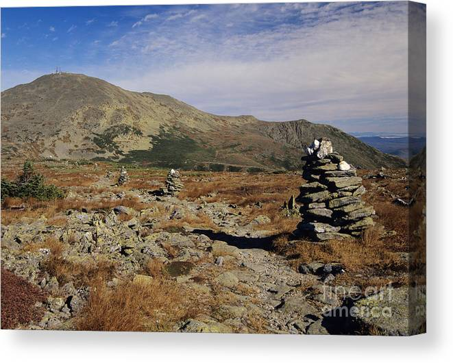 Hike Canvas Print featuring the photograph Mount Washington - White Mountains New Hampshire by Erin Paul Donovan