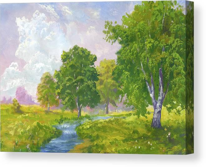 Scenics Canvas Print featuring the digital art Beautiful Summer by Pobytov