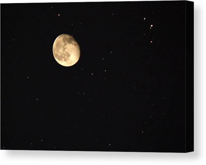 Moon Canvas Print featuring the photograph Moonshine by Brian Spratley