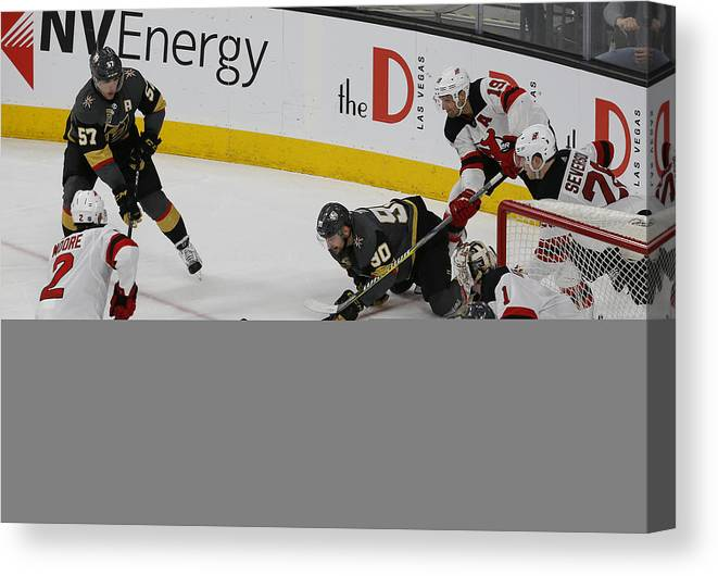 Vegas Golden Knights Canvas Print featuring the photograph Nhl  Mar 14  Devils At Golden Knights 7f1369317