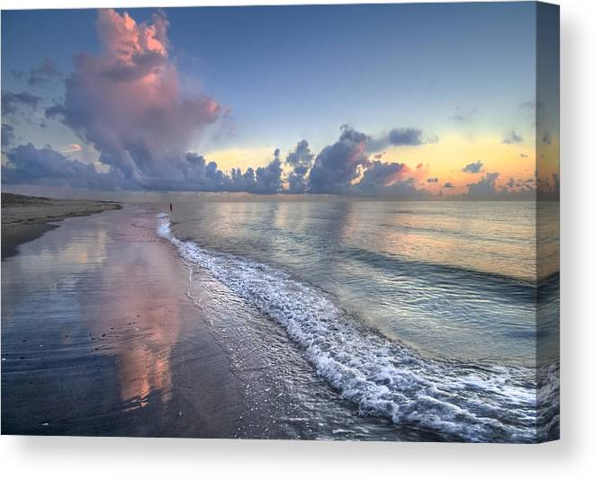 Blowing Canvas Print featuring the photograph Quiet Morning by Debra and Dave Vanderlaan