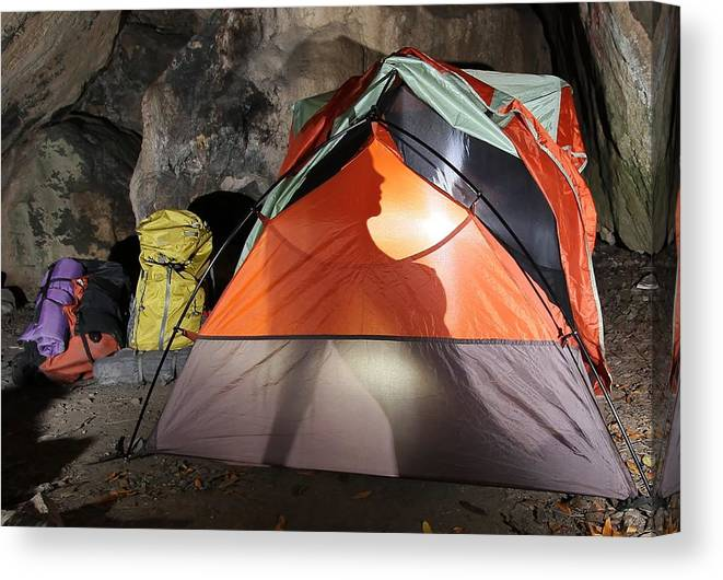 Backpacking Canvas Print featuring the photograph Salmon Creek by Chad Lloyd