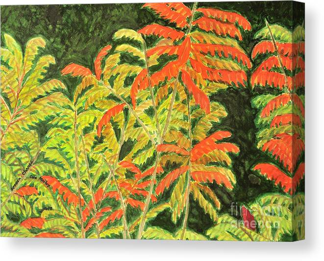 Abstract Canvas Print featuring the painting Seasons Change by Cora Eklund