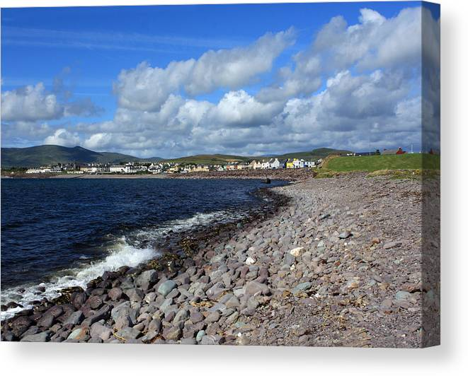 Ireland Canvas Print featuring the photograph Village By The Sea - County Kerry - Ireland by Aidan Moran