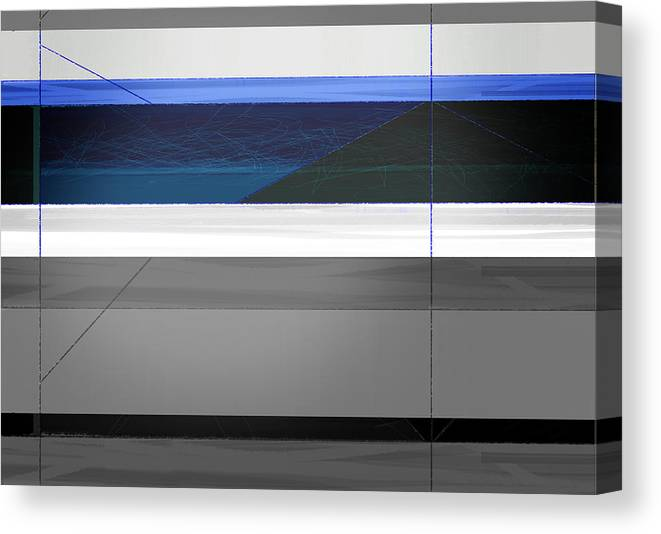 Abstract Canvas Print featuring the painting Blue Flag by Naxart Studio