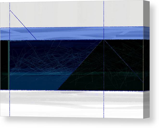 Abstract Canvas Print featuring the painting Deep Blue by Naxart Studio