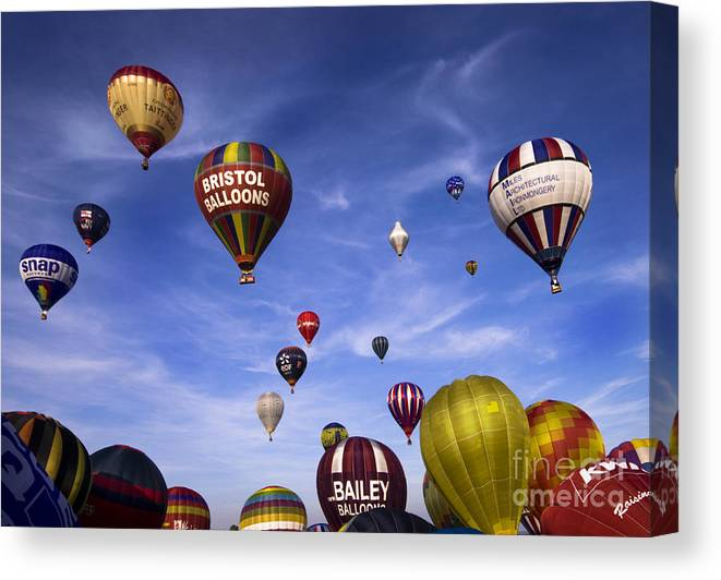 Balloon Fiesta Canvas Print featuring the photograph Balloon Fiesta by Angel Ciesniarska