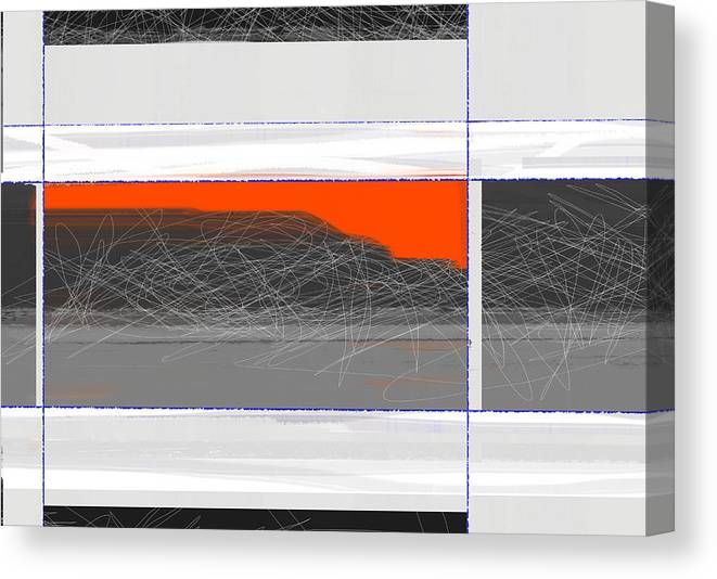 Abstract Canvas Print featuring the painting Abstract Planes by Naxart Studio