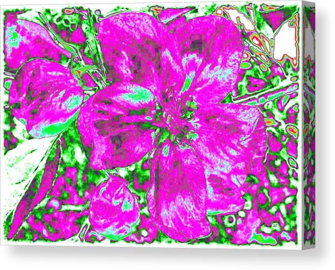 Bella Flora Canvas Print featuring the digital art Bella Flora 2 by Will Borden