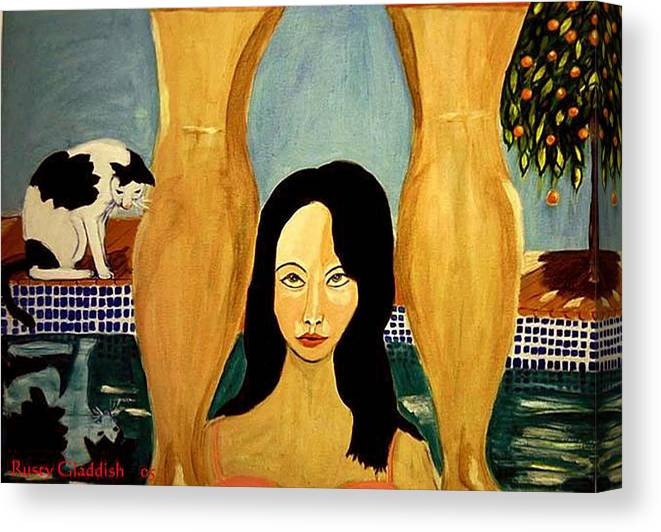 Cat Canvas Print featuring the painting Buena Vista by Rusty Gladdish