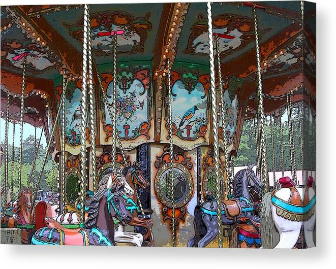 Carousel Canvas Print featuring the photograph Carousel 2 by Anne Cameron Cutri