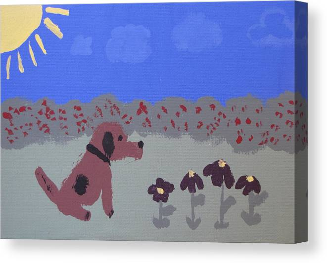 Acrylic Canvas Print featuring the painting Childlike Imagination by Melissa Parks