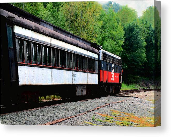 Train Canvas Print featuring the photograph Chugging Along by RC DeWinter