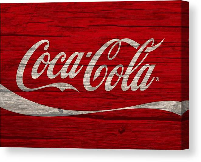 Coca Cola Classic Barn Canvas Print featuring the photograph Coca Cola Worn Wood Sign by Dan Sproul