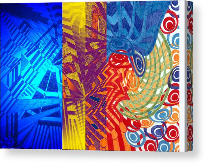Abstract Canvas Print featuring the digital art Colorful Light by B and C Art Shop
