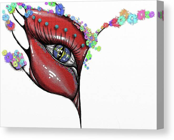 Mask Canvas Print featuring the painting Mask Elegance by Rana King