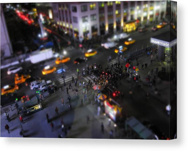 Newyork Canvas Print featuring the photograph New York City Street Miniature by Nicklas Gustafsson
