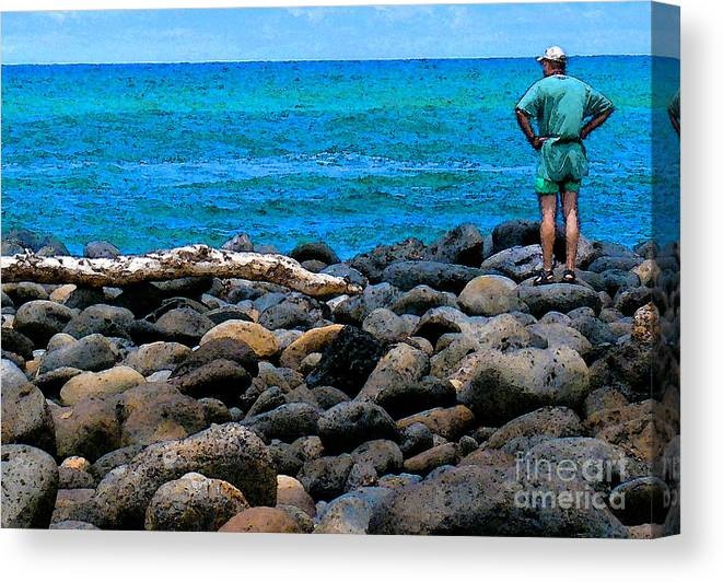 Hawaii Canvas Print featuring the photograph Ocean Watch by James Temple