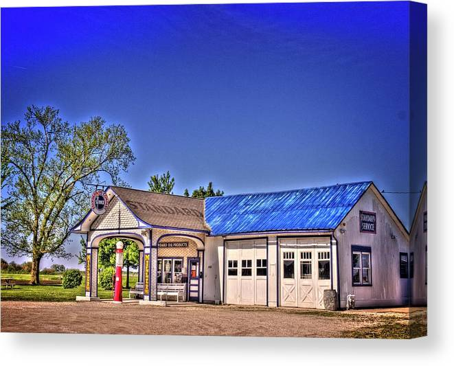 Odell Canvas Print featuring the photograph Odell Station 1 by Fred Hahn
