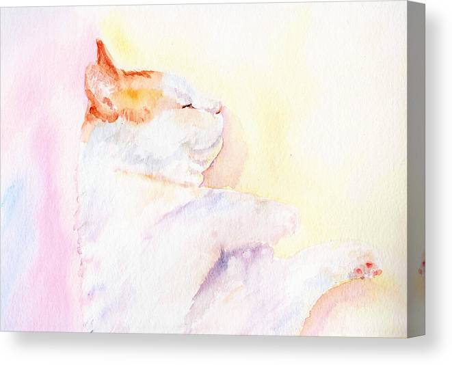 Abstract Canvas Print featuring the painting Playful Cat Iv by Elizabeth Lock