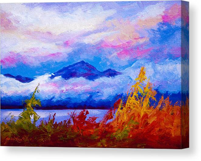 Alaska Canvas Print featuring the painting Rythmn Of The Arctic by Marion Rose