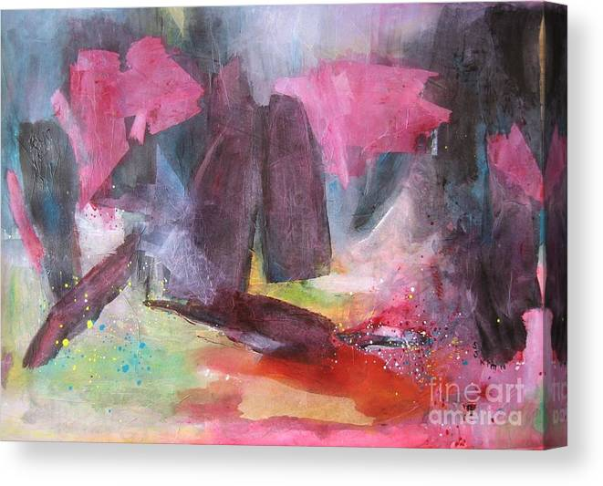 Acrylic Paintings Canvas Print featuring the painting Spring Fever7 by Seon-Jeong Kim