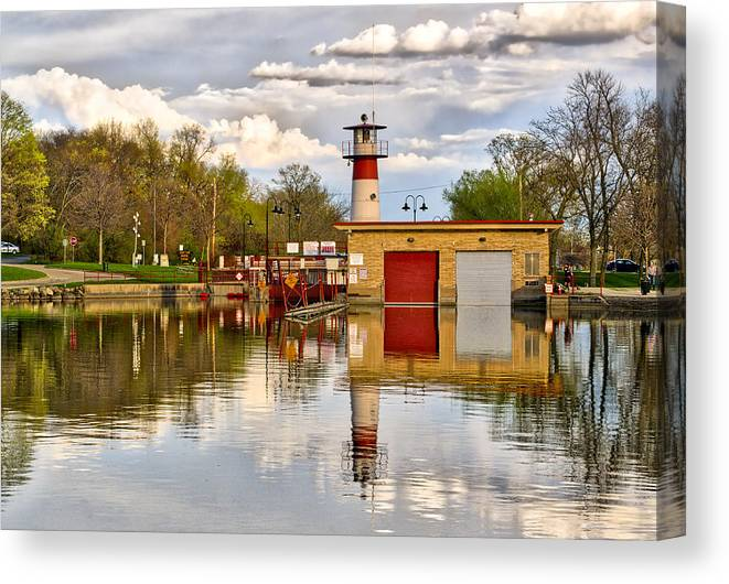 Tenney Canvas Print featuring the photograph Tenney Lock - Madison - Wisconsin by Steven Ralser