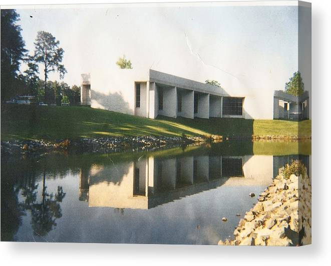 Archistructure Canvas Print featuring the photograph The Mariner's Museum On Lake Maury by Anne-Elizabeth Whiteway