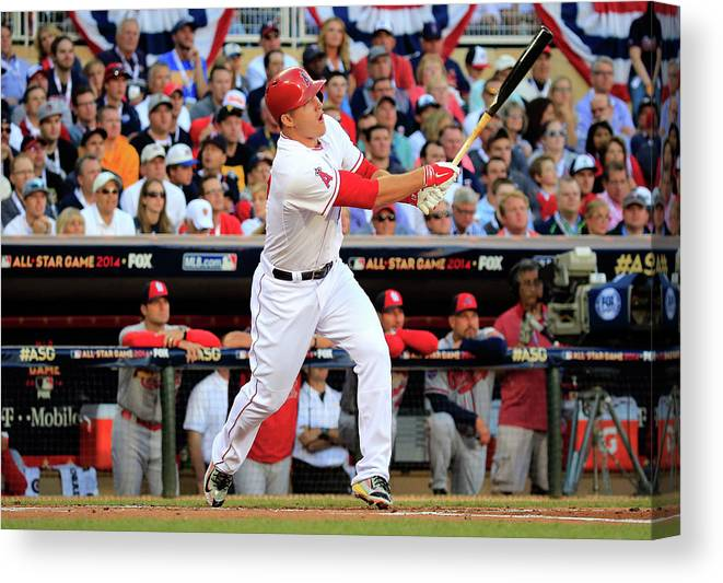 People Canvas Print featuring the photograph 85th Mlb All Star Game 9 by Rob Carr