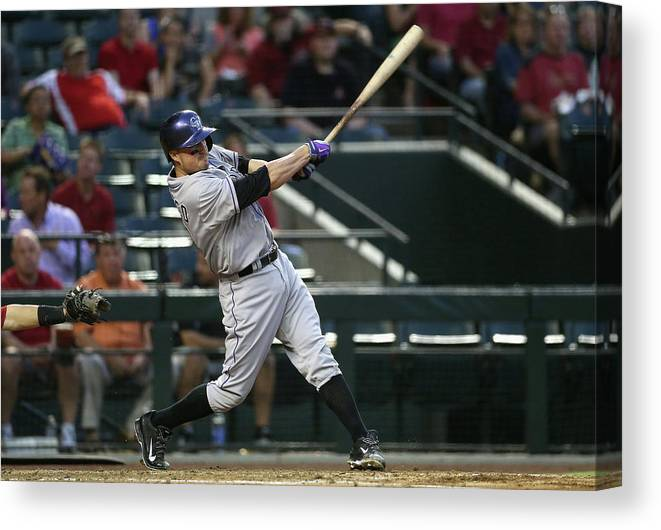Second Inning Canvas Print featuring the photograph Jordan Pacheco by Christian Petersen