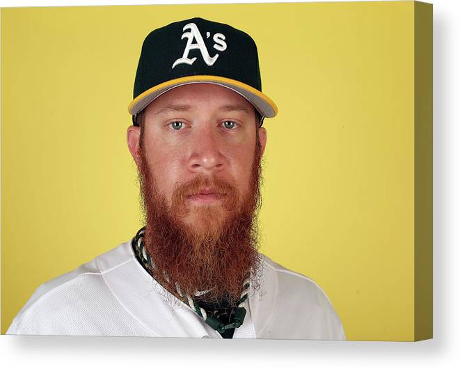 Media Day Canvas Print featuring the photograph Sean Doolittle by Christian Petersen