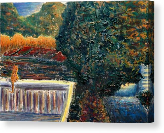 Oil Canvas Print featuring the painting Last Rays by Cynthia Ann Swan