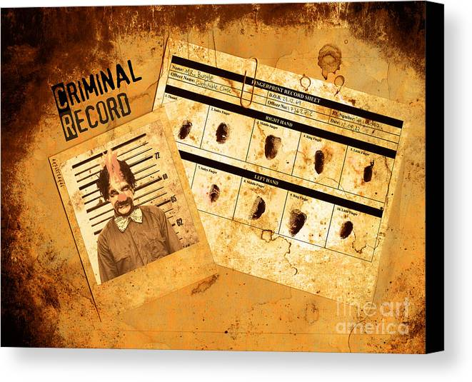 Police Criminal Record File Canvas Print / Canvas Art by Jorgo ...