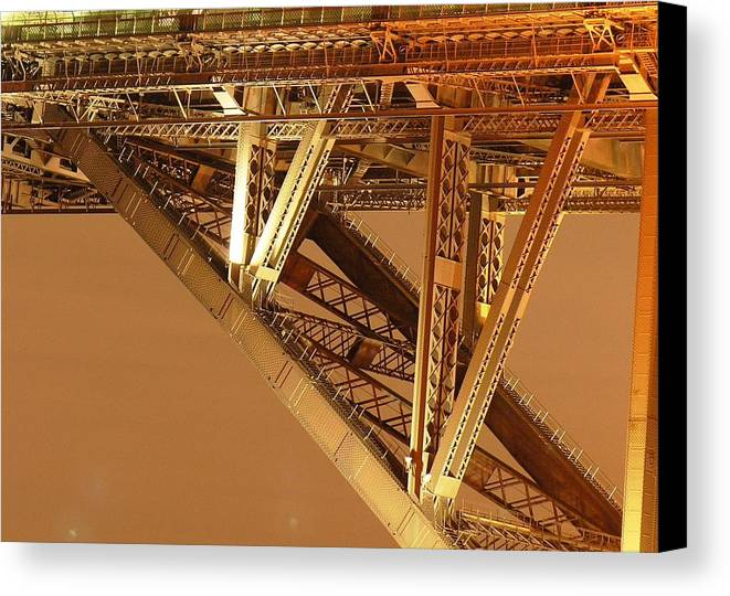 Steel Canvas Print featuring the photograph Steel Bridge by David Miller