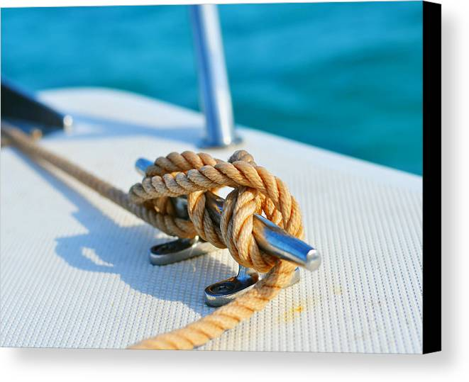 Laura Fasulo Canvas Print featuring the photograph Anchor Line by Laura Fasulo