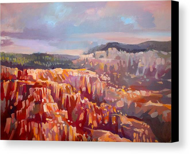 Inspiration Point Canvas Print featuring the painting Bryce Canyon by Filip Mihail