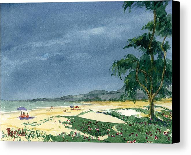 Beach Day Canvas Print featuring the painting Dark Sky by Ray Cole