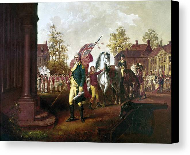 18th Century Canvas Print featuring the photograph David Humphreys (1752-1818) by Granger