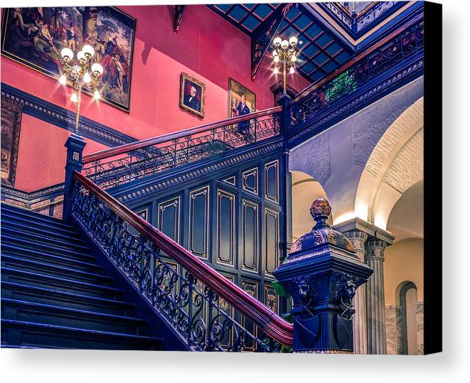 Interior Canvas Print featuring the photograph Sc State House by Rob Sellers