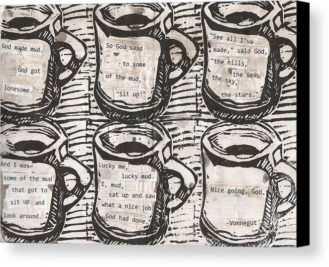 Java Canvas Print featuring the drawing Java by William Cauthern