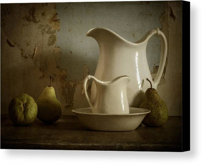 Pear Canvas Print featuring the photograph A Simpler Time by Amy Weiss