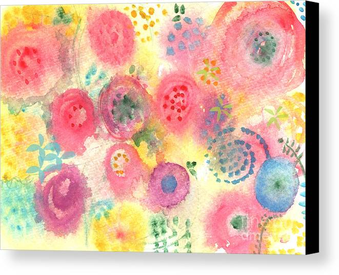 Flowers Canvas Print featuring the painting Abstract Garden #45 by Linda Woods