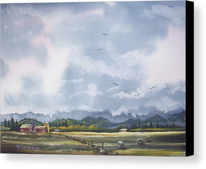 Rain Canvas Print featuring the painting After The Rain by Anthony DiNicola
